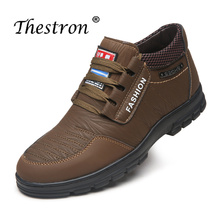 Купить с кэшбэком Fashion Male Leather Casual Shoes Brand Comfortable Velvet Men Shoes Winter Classic Warm Short Snow Boots High Quality Sneakers