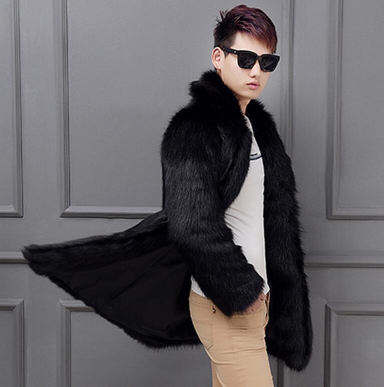 blanc Hiver Fourrure Mode Vison Veste À Épaissir Lâche Manches Longues En Automne Chaud Blanc Cuir Hommes Manteau Faux De Noir Noir Vestes j5A3RScq4L