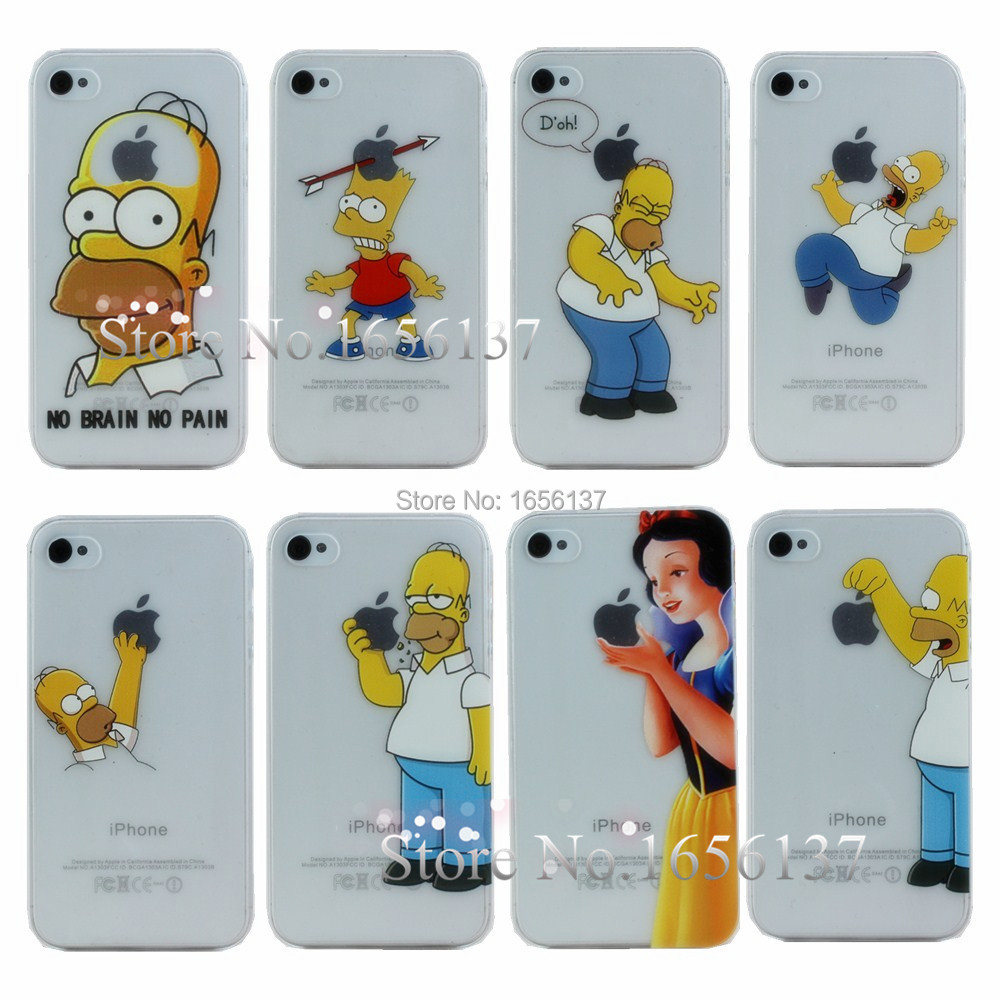 Grind Arenaceous Cases For Apple Iphone 4S 4 Case IPhone4S Shell Snow White Anna Mermaid Ariel Cinderella Girl Cover 1PCS In Fitted From