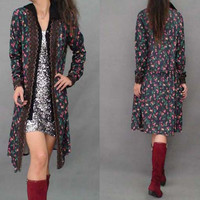 Free Shipping 2013 New Fashion Vintage Long Sleeve Dress Autumn And Spring Cardigan Knee Length Trench