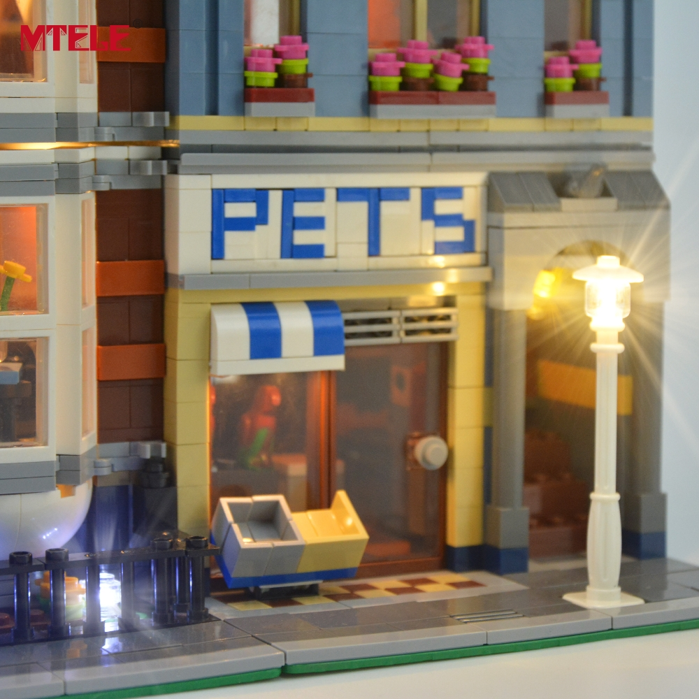 Image 3 - MTELE бренд светодиодный светильник Up Kit для Pet Shop супермаркет светильник ing комплект совместим с 10218 (не включает модель)-in Блоки from Игрушки и хобби on AliExpress - 11.11_Double 11_Singles' Day