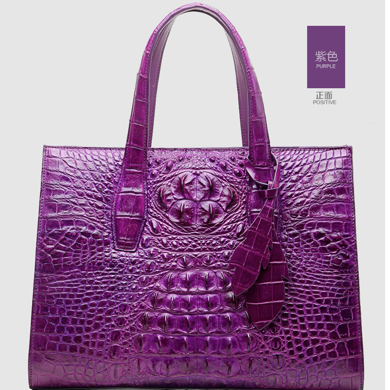 ouluoer Real crocodile  Thailand new luxury women handbag is a bag of real crocodile  leather women bags ouluoer new crocodile skin women handbag thai crocodile leather women bag large bag leather women bags