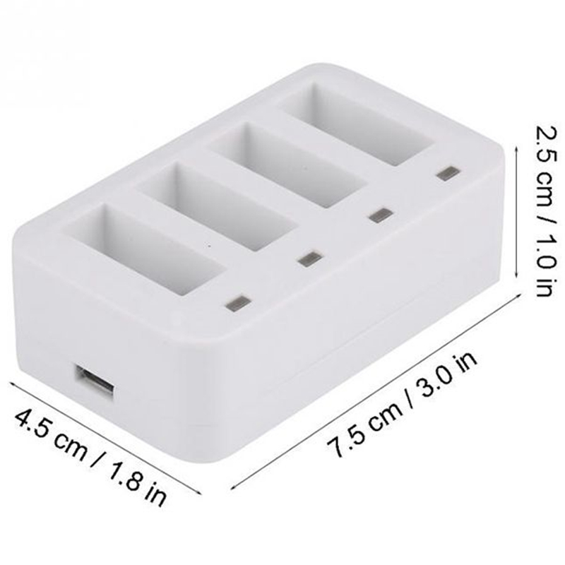 Battery Charger USB 4 in1 Multi Battery Charging Hub for DJI Tello Mini Drone 1100mAh Intelligent Flight Battery Charging Hub