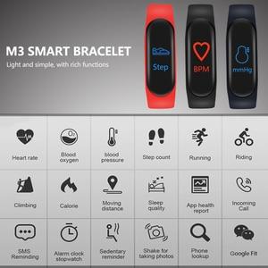 Image 5 - M3 스마트 밴드 스포츠 팔찌 피트니스 트래커 reloj inteligente 팔찌 모니터 0.96 인치 심박수 모니터 스마트 밴드