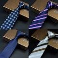 SHENNAIWEI 7 cm gravata gravatas dos homens de luxo para homens 2016 gravata fina moda navy listras corbatas hombre pará