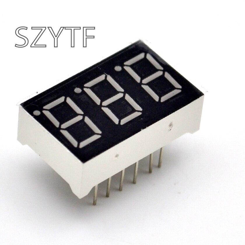 10pcs 7 Segment Common Cathode 3 Bit Digital Tube 0.56