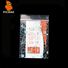 Printed Miniature round Blue Zip Lock Grip Plastic Packag Bag Food Candy Jewelry Reclosable Thick PE Self Sealing Small Package