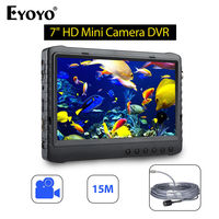 EYOYO 7inch LCD Screen Monitor 5MP DVR 1080P HD 15M Waterproof Underwater 120degree Detector Camera Video