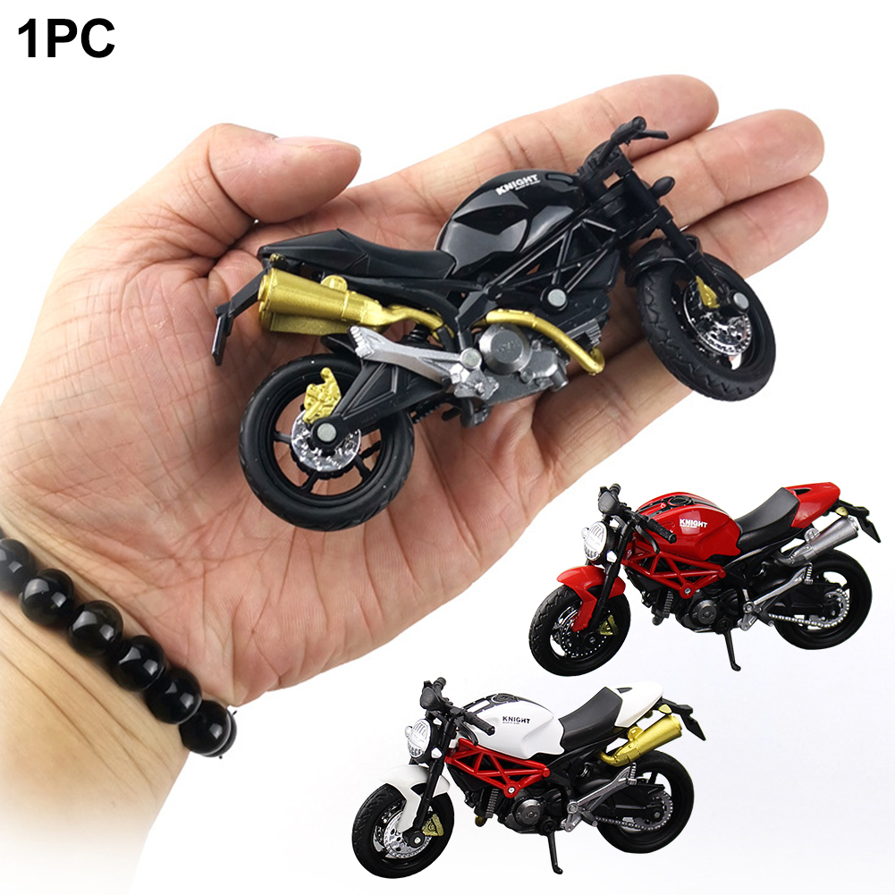 1:18 Car Children Diecast Motorcycle Home Lightweight Model Toy Off-road Vehicle Office Decor Plastic Collection Gift Simulation