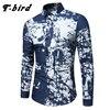 T Bird Shirt Men Printing Plaid Shirt Long Sleeves Dress Casual Mens Shirt Camisa Masculina 2017