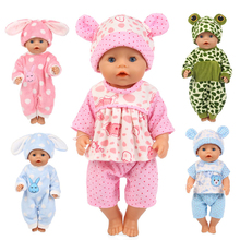only clothes New Born 18 inch 40cm- 43cm Boy Girl Doll Animal Gift Cute pink bun