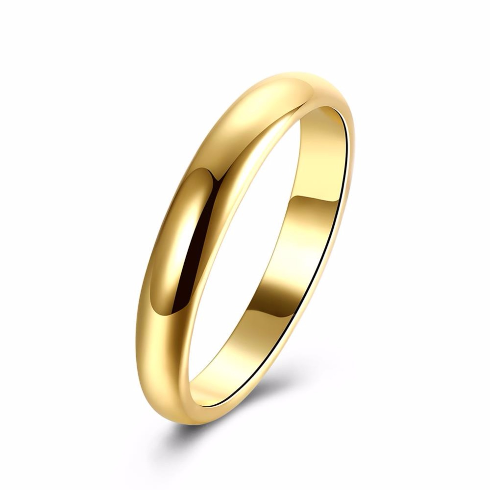 Tungsten Ring 2MM Wide Gold Color Tungsten Carbide Rings For Women Wedding Finger Jewelry