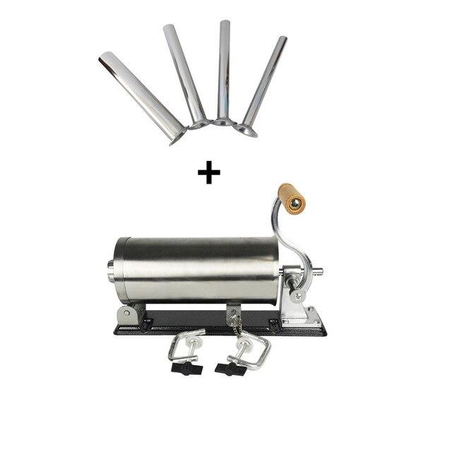BrotherNemco 6lbs/3 kg embutidor de salchichas Horizontal máquina de llenado de salchichas de acero inoxidable