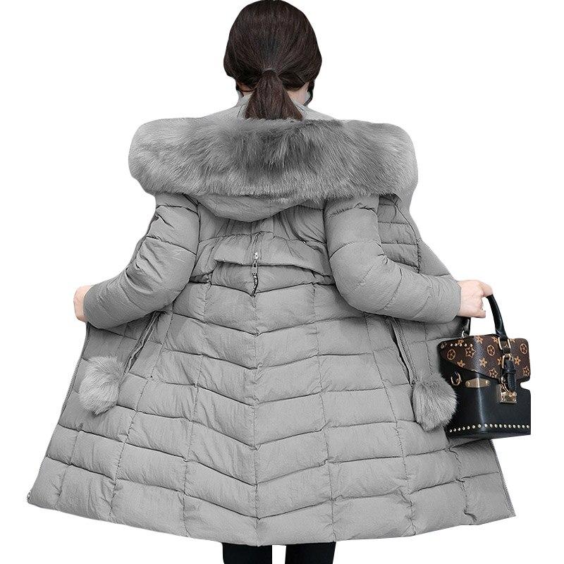 Fur Collar Parka Women Winter   Jacket   Women Coat Hooded Outwear Female Parka Thick Cotton Padded Winter Female   Basic   Coat   jackets