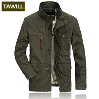 TAWILL Fleece Winter Men jacket jean military Army cotton male Brand clothing Mens jackets 1516