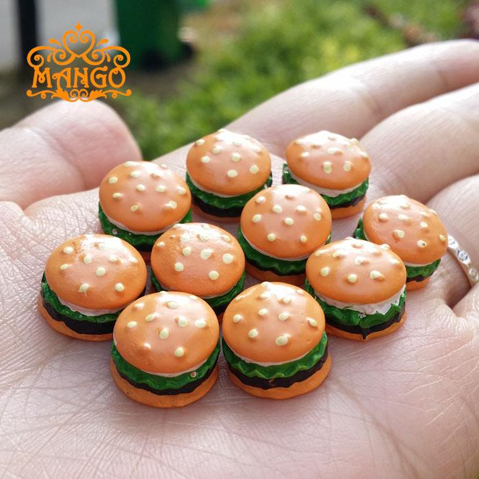 Dollhouse Miniature 1:12 cake shop Handmade food Hamburger kitchen Supply Deco 10 pcs  F ...