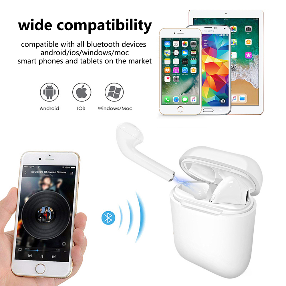 Image 2 - New 2019 I9 I9S TWS Wireless Earphones Portable 5.0 Bluetooth Headset In Ear Mini Earbud Invisible Earbud for all smart phone-in Bluetooth Earphones & Headphones from Consumer Electronics