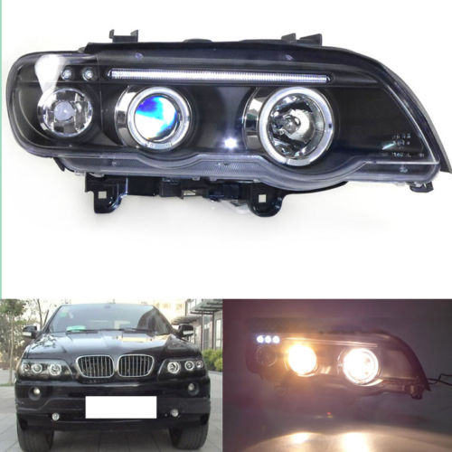 Headlights Front Lamps Bi Xenon Projector For BMW X5 E53 1998-2003