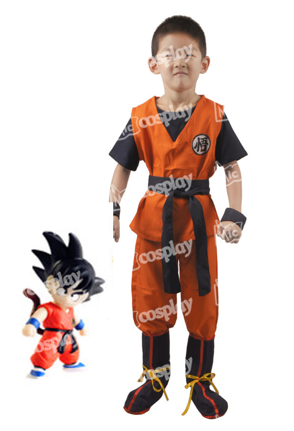 Anime Ny Hot Dragon Ball Son Goku Kids Cosplay Halloween Party - Maskeradkläder och utklädnad