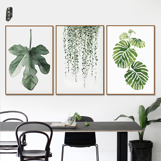 3 Panel Modular Canvas Art Sets Plant Wall Art Posters and Prints ...