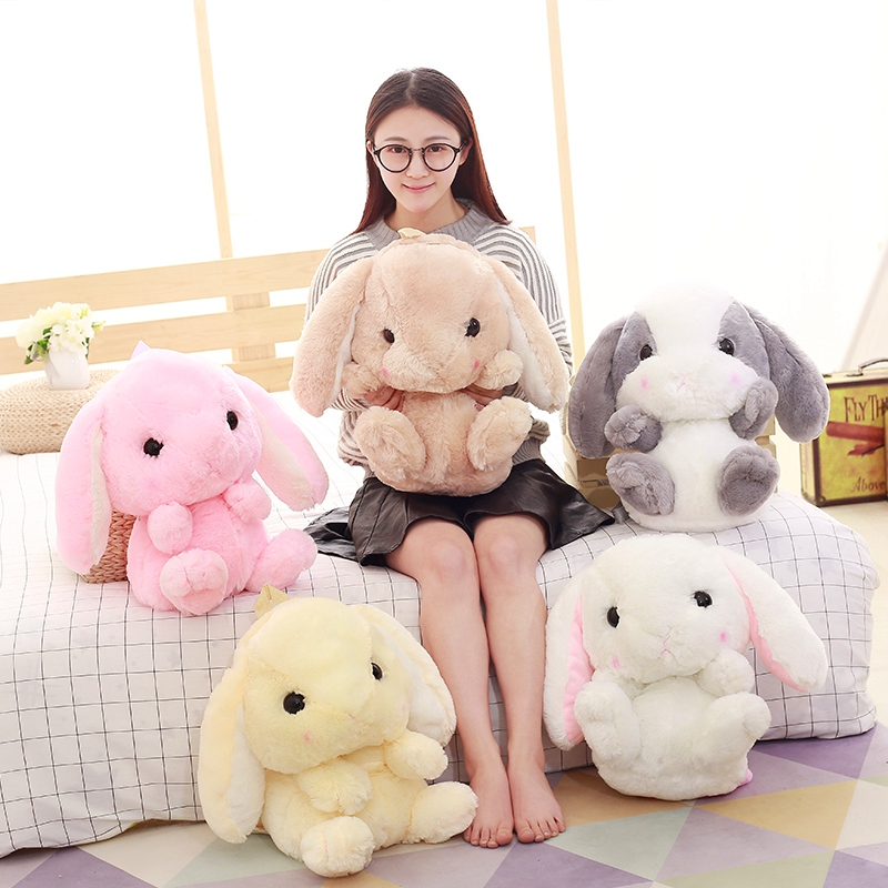1 Pcs Lovely Rabbit Plush Bags The Loppy Eared Rabbit Plush Toy Bag Super Stirring Is A Kind Of Backpack Short Plush