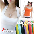 new women Halter Neck Sheath slim vest sexy camis soft Candy colors cotton shirt tank tops sleeveless garment for girl