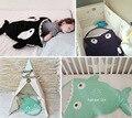 Скидка! акула ребенка спальный мешок Зима Коляски Кровать Пеленальный Одеяло Обертывание мило Постельные Принадлежности продукт младенца Мультфильм