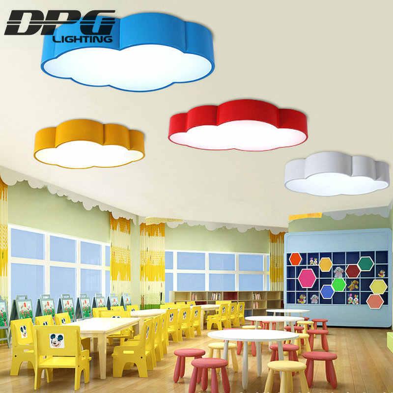 Led Cloud Kinderkamer Verlichting Kinderen Plafondlamp Baby Plafondlamp Met Geel Blauw Rood Wit Voor Jongens Meisjes Slaapkamer armaturen