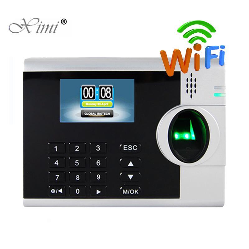 XM218 3inch Color Screen Linux System Fingerprint Time Attendance Time Clockc WIFI TCP/IP Biometric Fingerprint Time Recorder