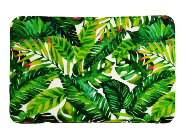 Bath Mat Tropical Tree Printing Suede Non Slip Absorbent Shower Bathroom Mat For Toilet Rugs Kitchen Floor Mat alfombras tapis