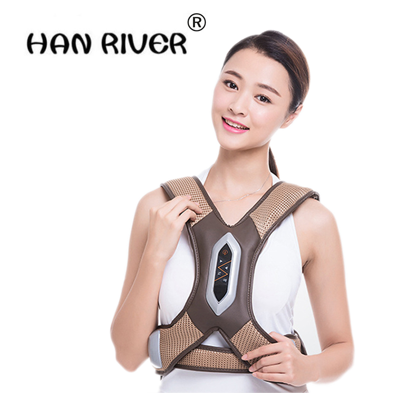 Health Care Neck Shoulder Electric Knocking Massage for waist Pain Relief Waist Vibration Massager Belt Therapy Household Relax moledodo multifunction shoulder knock massager neck waist back vibrate massage cervical health care pain relief relaxation d50