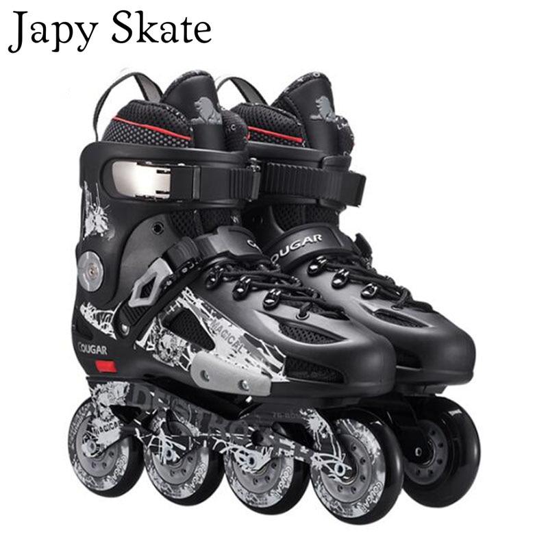 Japy Skate Original Cougar MZS507 Slalom Inline Skates Roller Skating Shoes Slalom Sliding Free Skating Shoes Patines Adulto high quality 2017 newest original adult inline skates roller skating shoes slalom sliding fsk patines adulto