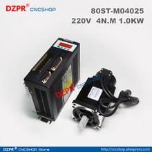 цена на AC Servo motor and driver :4N.M 1.0KW 2500RPM AC Servo Motor 80ST-M04025 + Matched Servo Driver