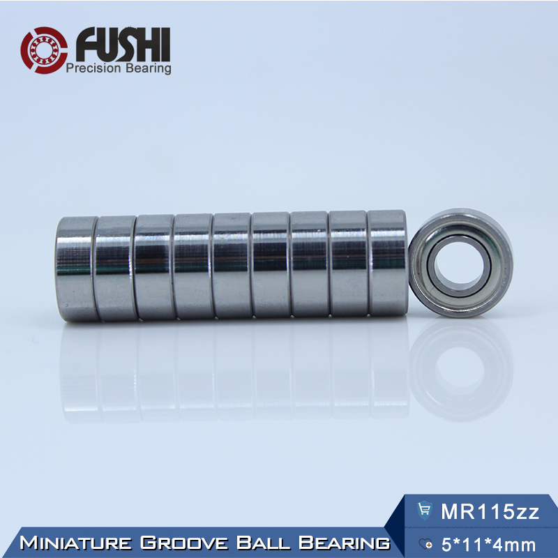 MR115ZZ Bearing ABEC-5 (10PCS) 5*11*4 mm Miniature MR115Z Ball Bearings MR115 ZZ L-1150ZZY04 mr148zz bearing abec 1 10pcs 8 14 4 mm miniature mr148 2z ball bearings mr148 zz l 1480zz mr148z