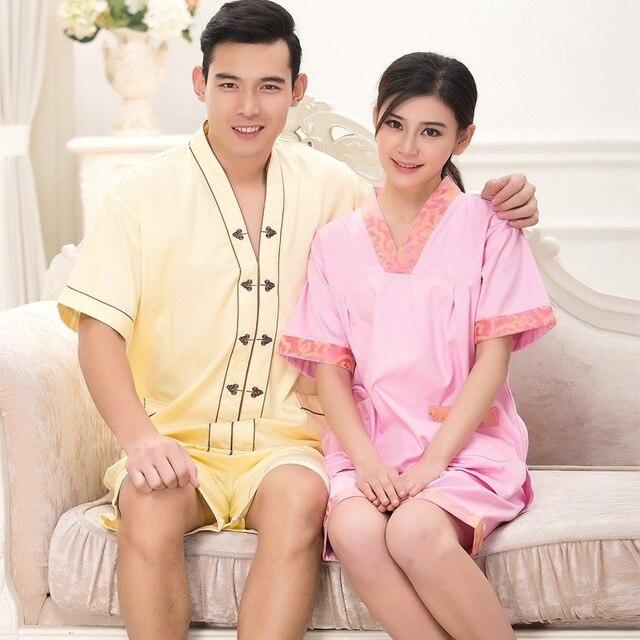 Hotel Bathrobe 2 PCS Top+pants Foot Massage Technician Service Staff Costume Cotton Lover Pajamas Free Shipping 18