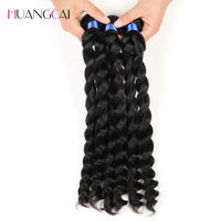 French Twist Brazilian Hair Weaves 3 Bundles 100% Human Hair Extensions Meches Bresilienne 3Pcs/lot Huangcai