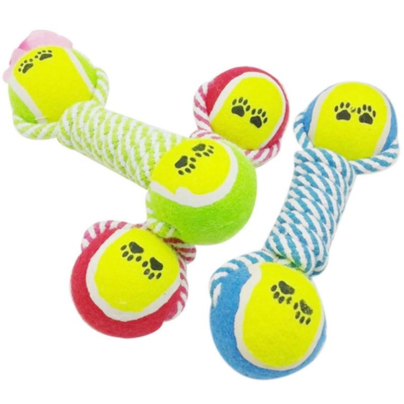Tennis de Coton Corde Chien Jouets Pour Petits Chiens Jouet Chien Jouets Pour Animaux Puppy Chew Boule Mignon Designs Chien Jouets Pour Animaux de compagnie produit 10T40D