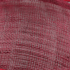 Элегантные шляпки из соломки синамей с вуалеткой хорошие Свадебные шляпы высокого качества женские коктейльные шляпы очень красивые несколько цветов MSF104 - Цвет: Бургундия