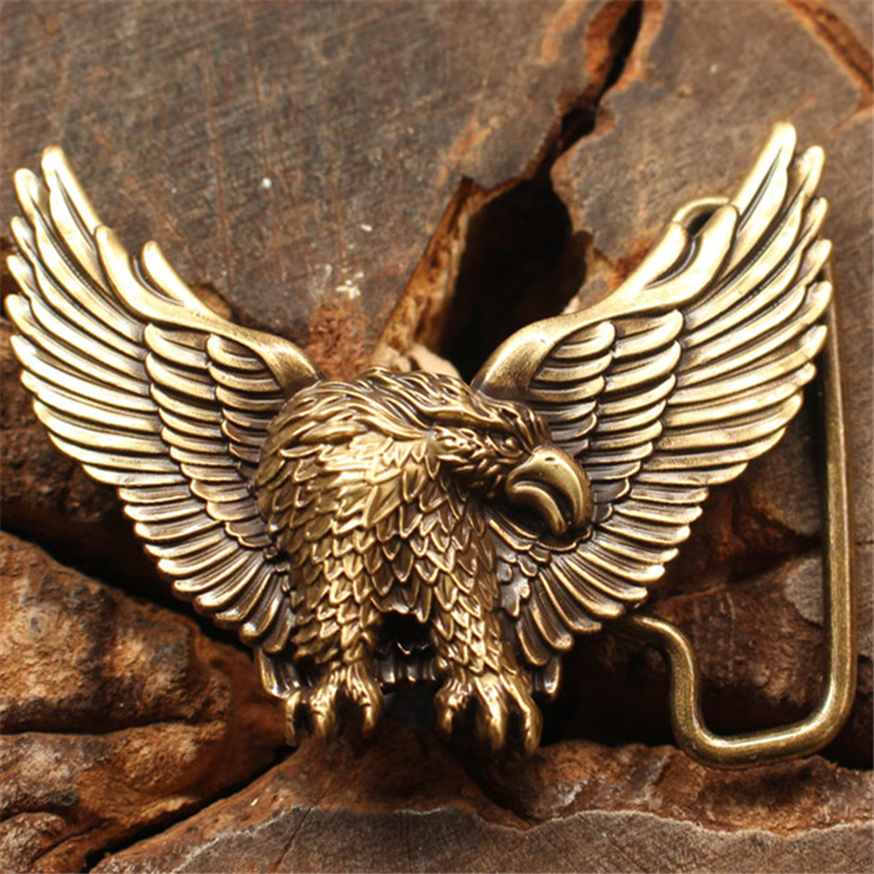 Solid Brass Eagle Belt Buckle Men Belt Diy Accessories Brand Designer Belt Buckles Male Strap Belts Luxury Buckles BK0040