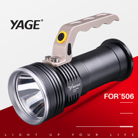 YAGE Rechargeable CREE Led Flashlight Hand Lamp Camping Flashlight Touch with 2*18650 Battery Lanterns Lamp EU/USA/UK Plug