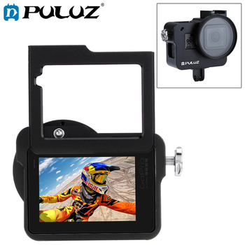 PULUZ Case Housing Shell For GoPro Hero 7 black CNC Protective Cage+Insurance Frame&52mm UV Lens For GoPro Hero 2018