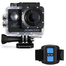 Soocoo c30r 4К спорт камера cam wifi 4 К гироскопа регулируемые углы обзора (70-170 градусов) ntk96660 с дистанционным управлением экшен-камера