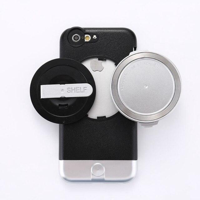 4 en 1 lente teleobjetivo De gran angular + macro conjunto cubierta Protectora sistema de la lente para iphone 6 6 s 6 plus 6 splus extraíble lente gran angular