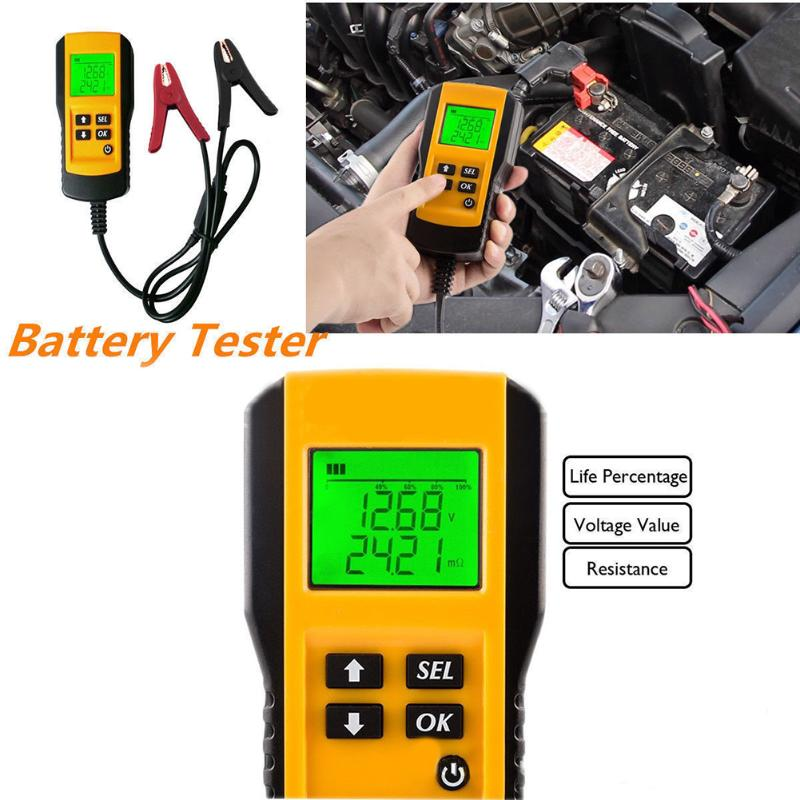 12v digital vehicle auto car battery tester automotive car battery electricity condition test. Black Bedroom Furniture Sets. Home Design Ideas