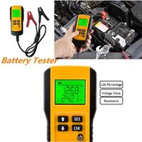 12V Digital Vehicle Auto Car Battery Tester Automotive Car Battery Electricity Condition Test Tool with 2 Test Clips Household