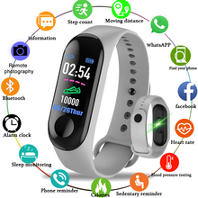 цена на 2019 Smart Sport Bracelet Wristband Blood Pressure Heart Rate Monitor Pedometer Smart Watch men For Android iOS  pk mi band 2