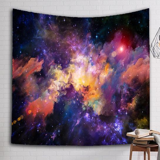 Helle Nebula Tapisserie Wandbehang Tapisserie