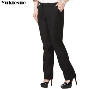 Image 4 - OL office womens pants for women pantalon femme streetwear with high waist formal  suit pants Plus size 9XL female trousers