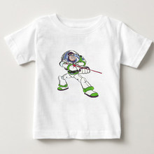 children Classic cartoon Toy Story character Buzz Lightyear 3d t shirt space t shirt girl and boy summer casual t shirt N(China)