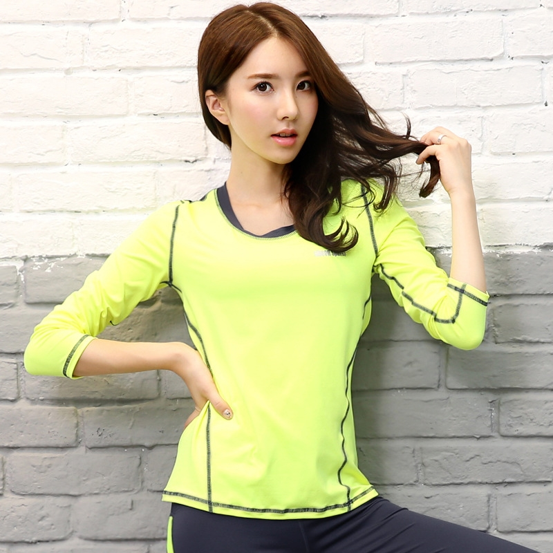 AtejiFey Professional Compression Sports Yoga Shirts Long Sleeve quick Dry Women Running T Shirts Gym Fitness Tops Tees Ladies in Yoga Shirts from Sports Entertainment